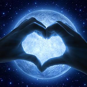 Valentines Day Moon