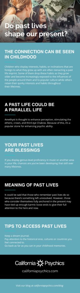 Past Lives Infographic | California Psychics