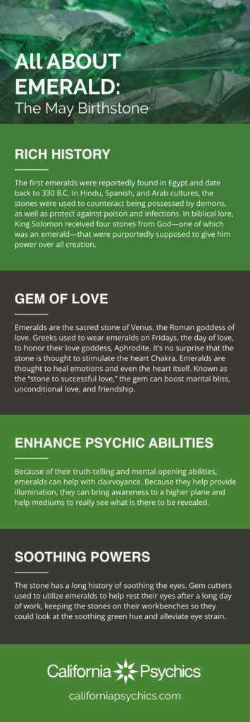 All About Emerald Infographic | California Psychics