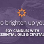DIY Soy Candles with Essential Oils and Crystals