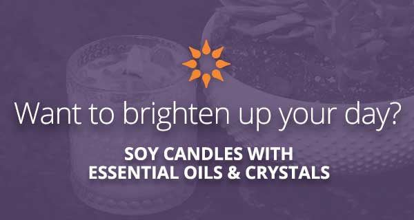 Soy Candles with Essential Oils and Crystals | California Psychics