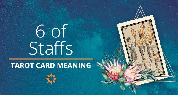 Six of Staffs Tarot Card Meaning   California Psychics
